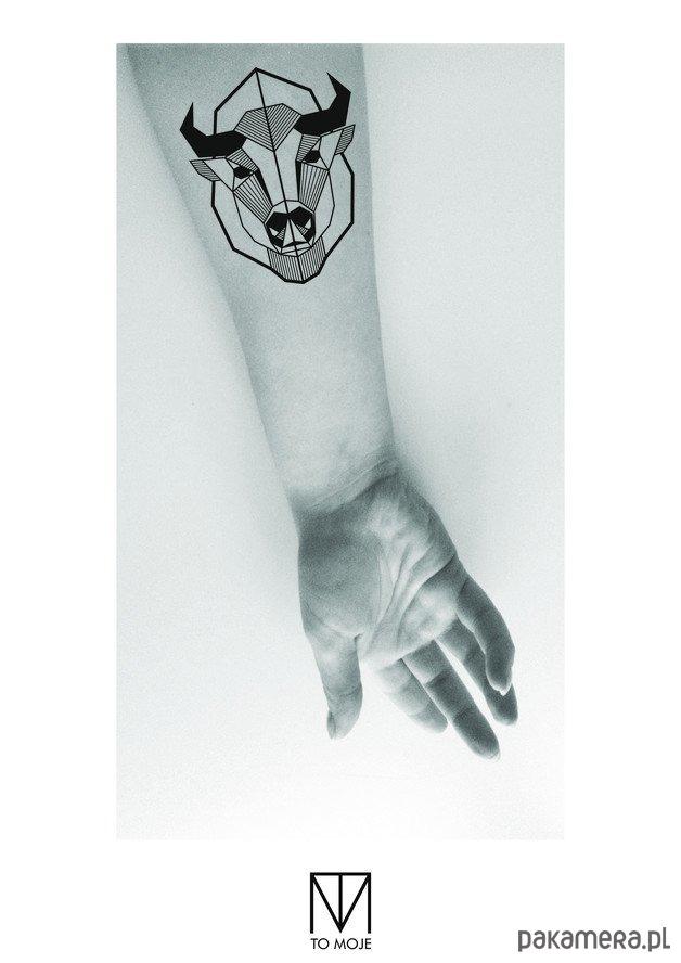 Tatuaż Zmywalny żubr Tatuaże Pakamerapl