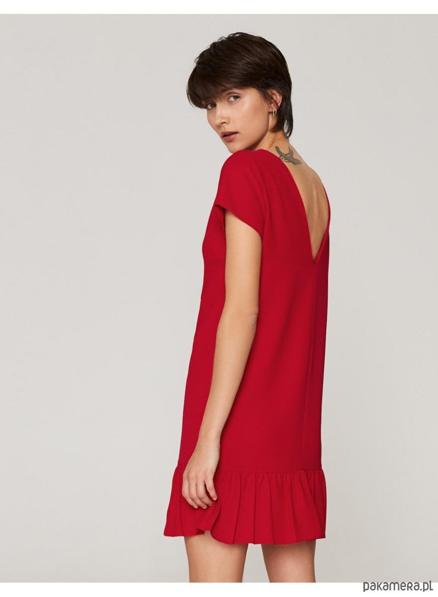 bd020259cf Sukienka z dekoltem V czerwona Sukienka z dekoltem V czerwona ...