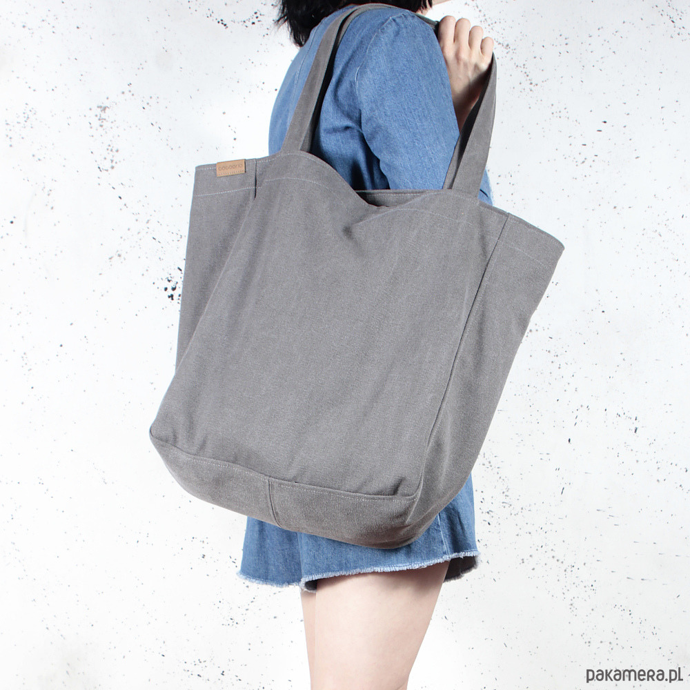 c67dac4329c0e Lazy bag torba grafitowa na zamek   vegan - torby na ramię - damskie ...