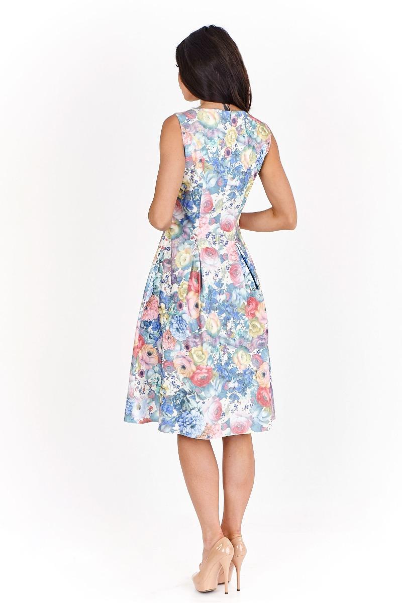 14f527b705 Sukienka koktajlowa Elissa midi w pastelowe kwia - sukienki - midi ...