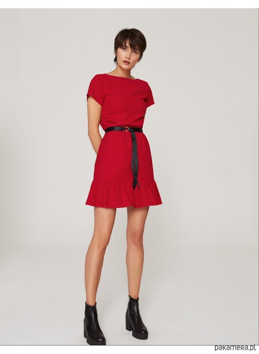30da4e486e Sukienka z dekoltem V czerwona - sukienki - mini - Pakamera.pl