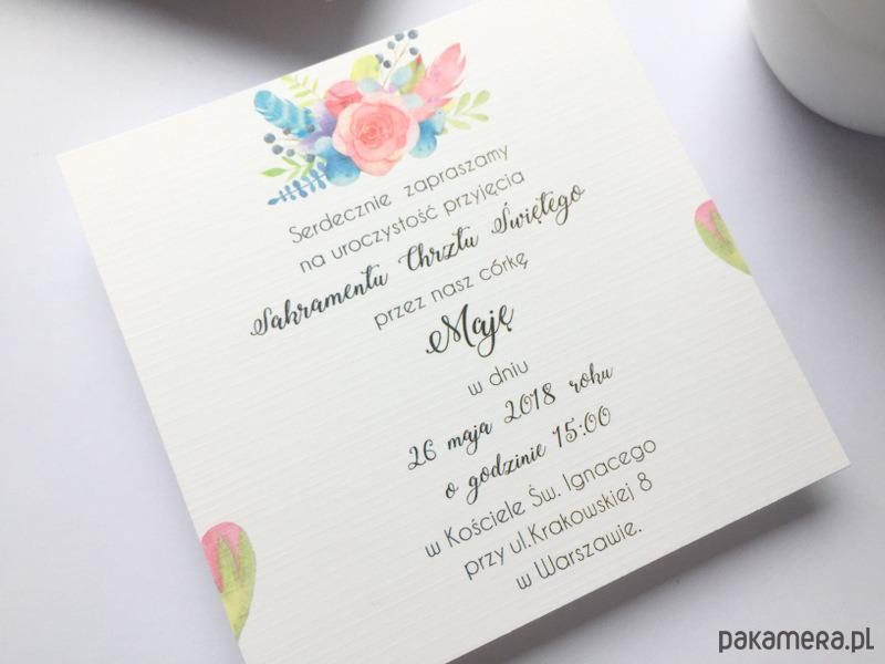 Zaproszenie Na Chrzest święty Fd5 Chrzest Kartki Zaproszenia