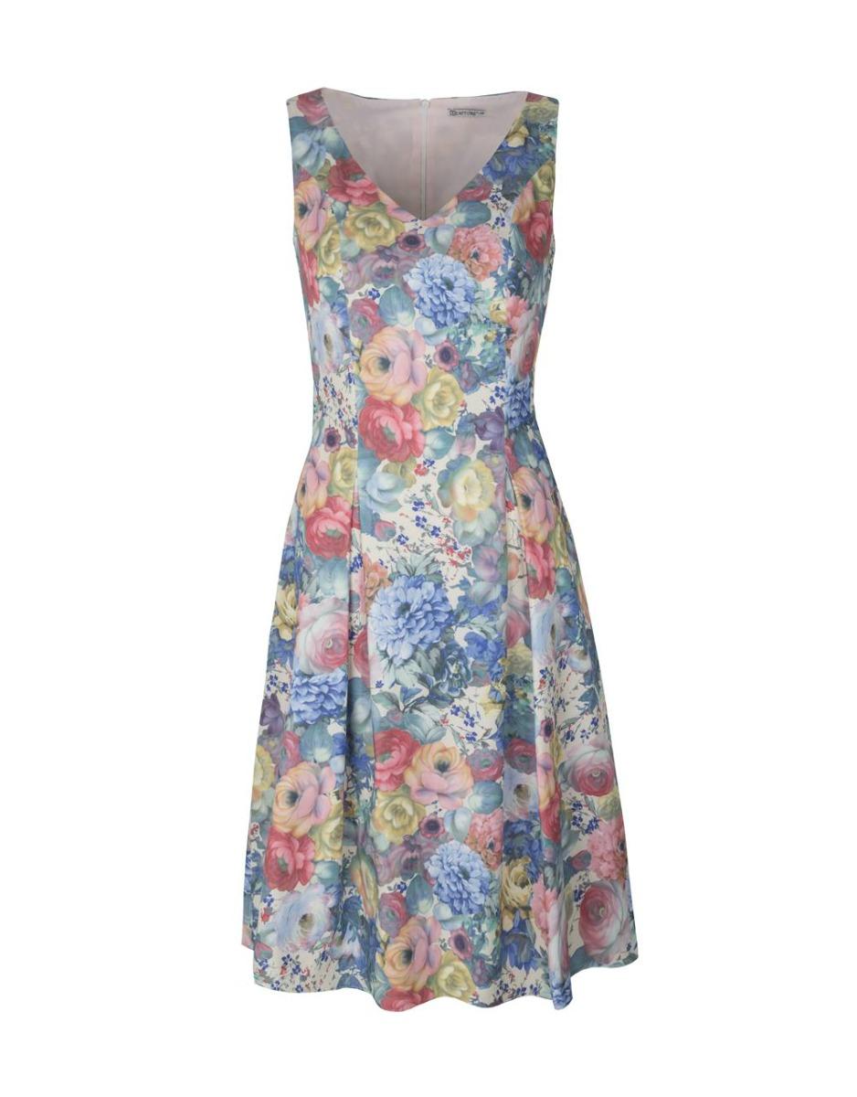 fe6bda192a Sukienka koktajlowa Elissa midi w pastelowe kwia Sukienka koktajlowa Elissa  midi w pastelowe kwia ...