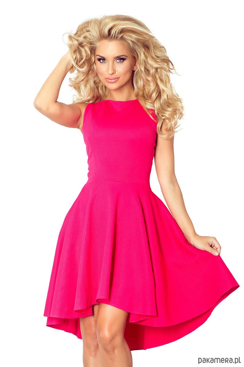 694c6292cd 66-3 Asymetryczna sukienka - malinowa - sukienki - midi - Pakamera.pl