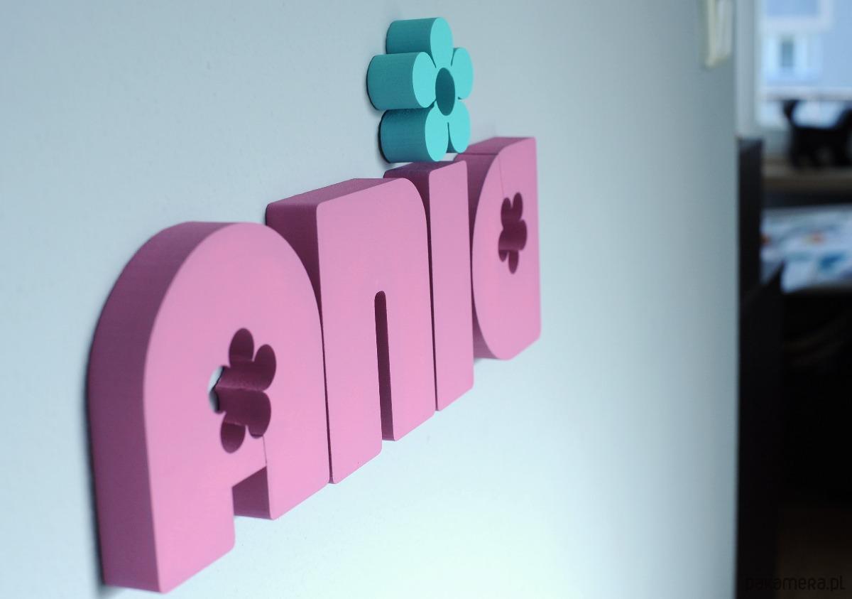 Niewiarygodnie Napis 3D na ścianę - LITERKI 16 cm - 25 cm - pokój dziecka NU53