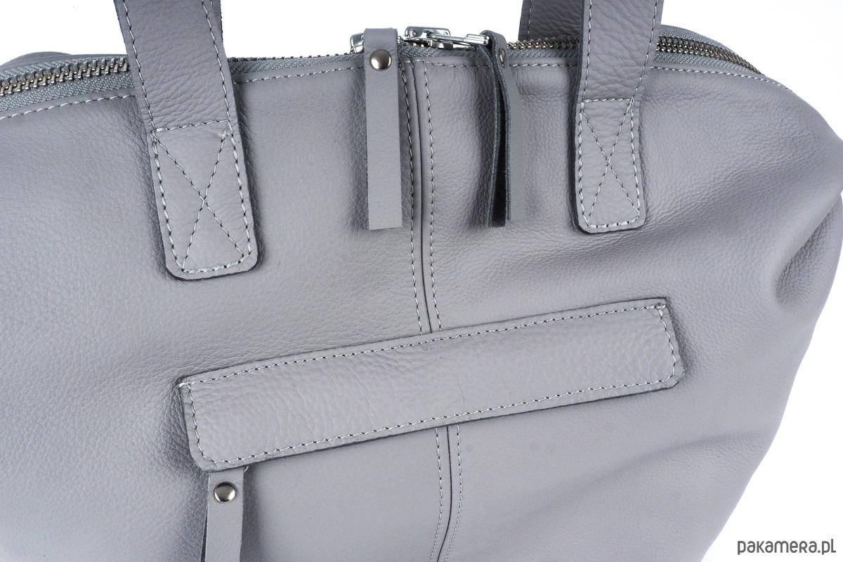 02271eab98375 Torba typu shopper AMY szara - torby na ramię - damskie - Pakamera.pl