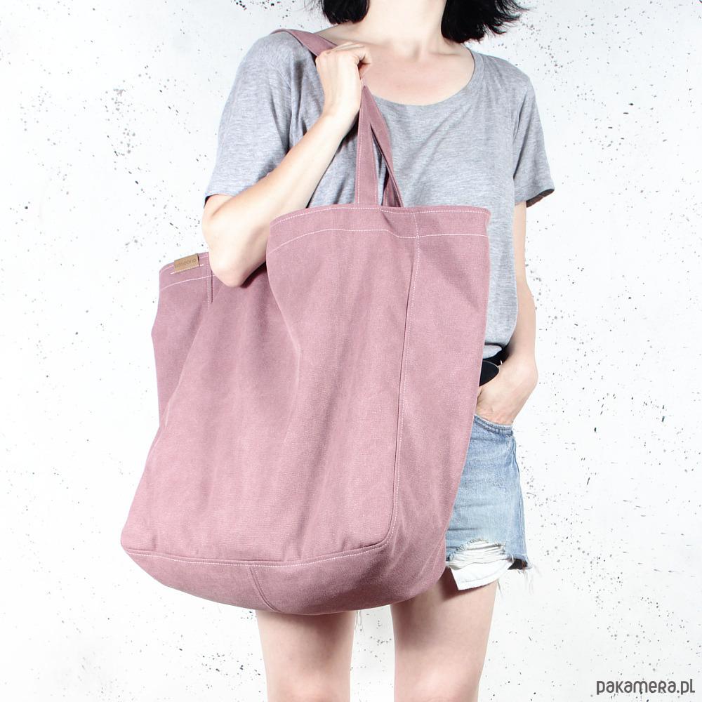b0aee1b851bb9 Big Lazy bag torba różowa na zamek / vegan / eco - torby XXL ...