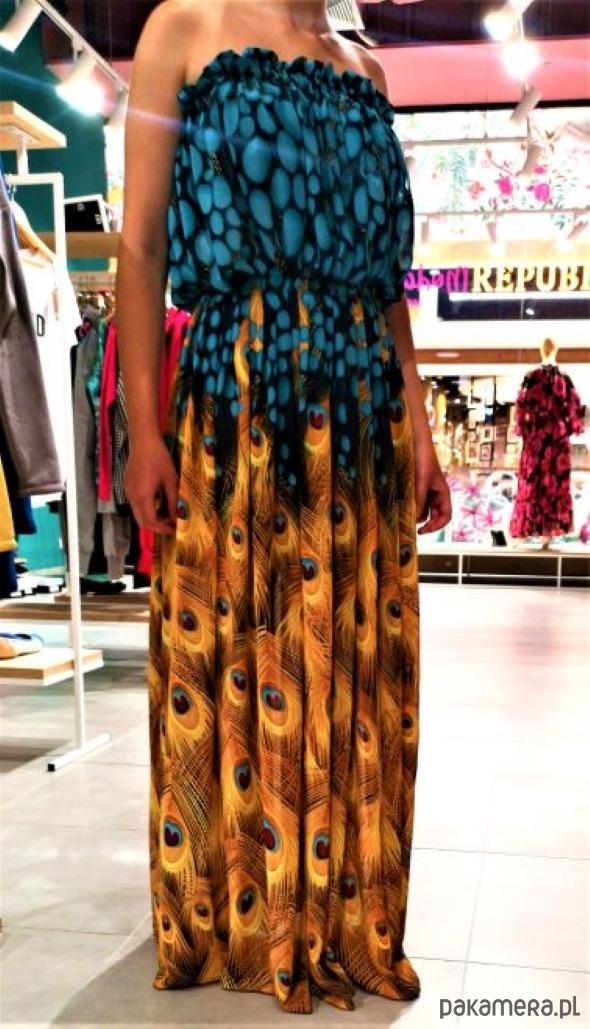 9a991ba43c365d Nina- szyfonowa sukienka bez ramiączek - sukienki - maxi - Pakamera.pl