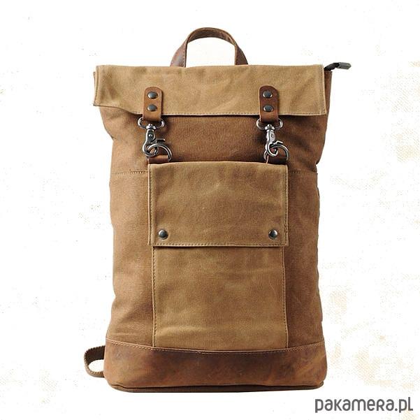 47db44f56d8c8 TD26 VINTAGE III™ Plecak płótno + skóra nat - plecaki - Pakamera.pl