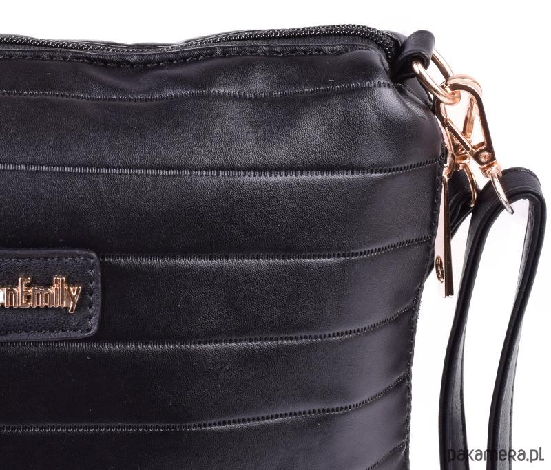 b5dffffacc473 Listonoszka pikowana SUMMER czarny - torby na ramię - damskie ...