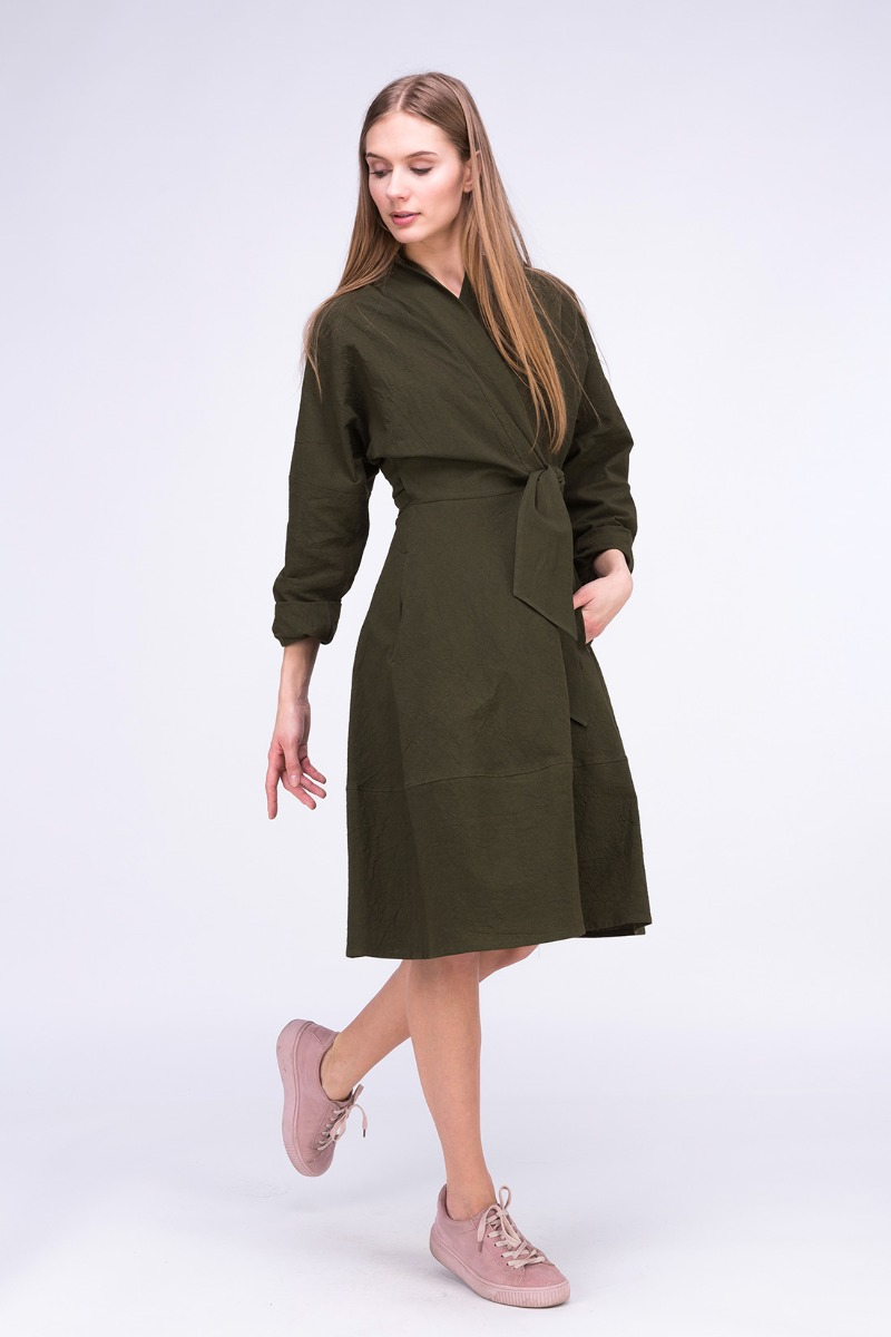 4a3c4162b96f Sukienka- Płaszcz POLARIS Khaki Sukienka- Płaszcz POLARIS Khaki ...
