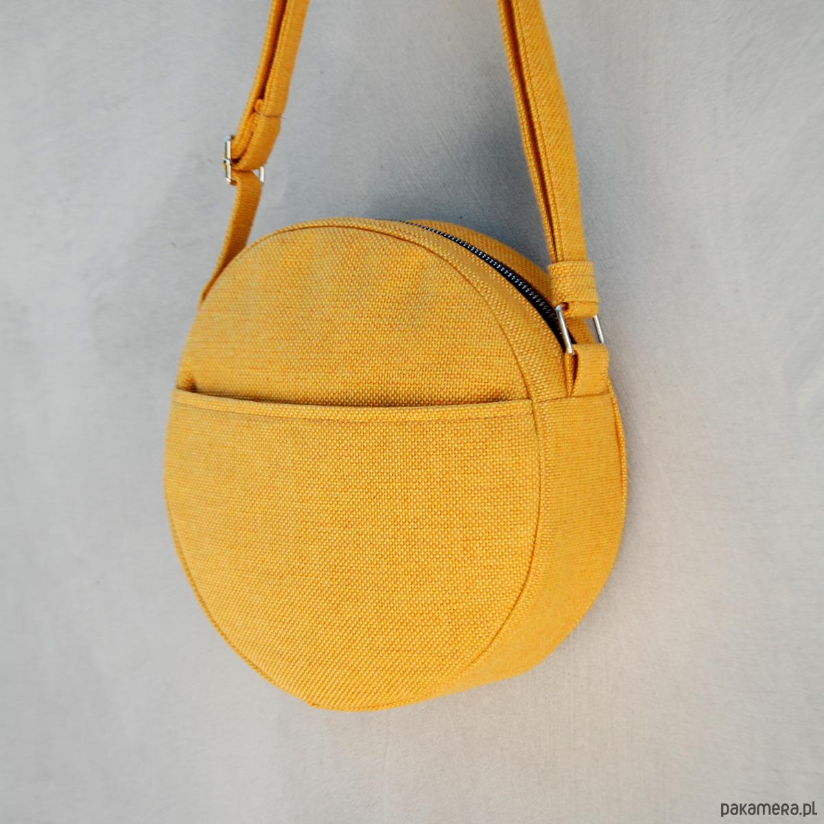 54a14fde82e3b DOTTI - okrągła torebka na ramię - żółta - torby na ramię - damskie ...