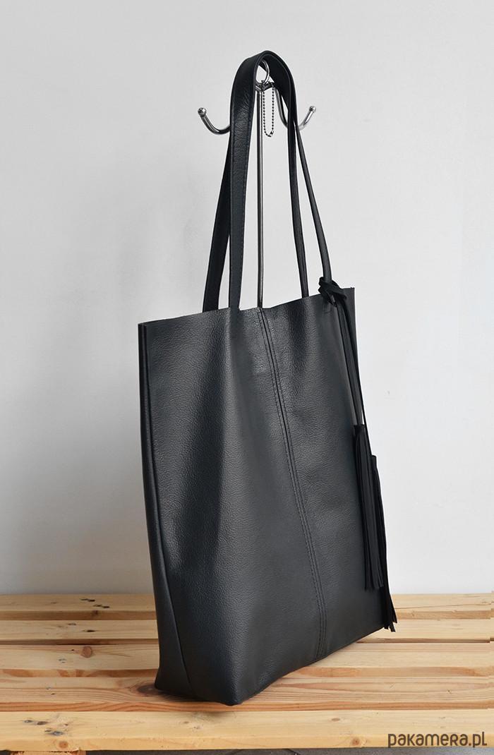 57ae648ecc209 Shopper skóra naturalna - torby na ramię - damskie - Pakamera.pl