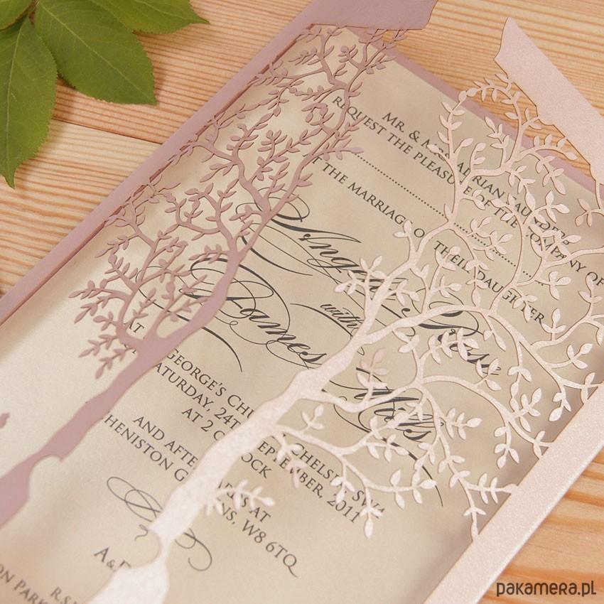 Zaproszenia ślubne Ozdobne Drzewo ślub Zaproszenia Kartki
