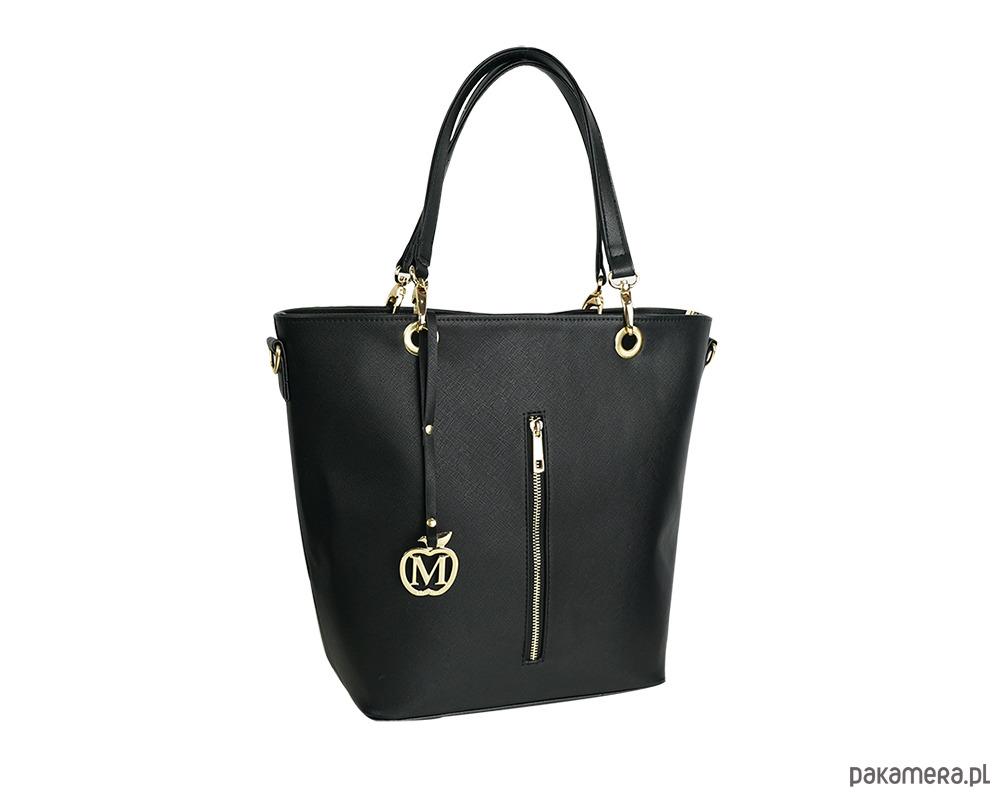 ae41bf92e9466 Duża torebka kuferek MANZANA hot czarny połysk - torby na ramię ...