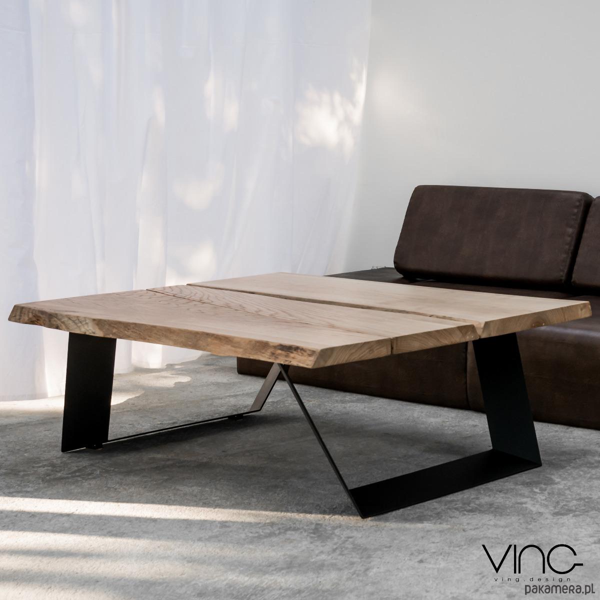 Inne rodzaje Stolik kawowy lity dębowy Drewno Design Loft Dąb - meble - stoły i DT91