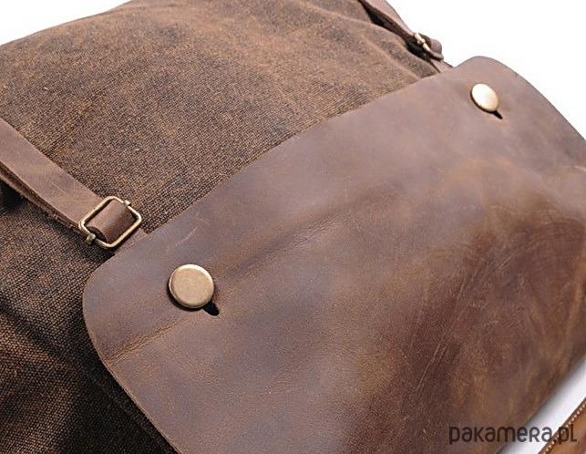 920302bee6f4b TD2 Kawa MAIL VINTAGE™ Bawełna i skóra nat. - torby na ramię ...