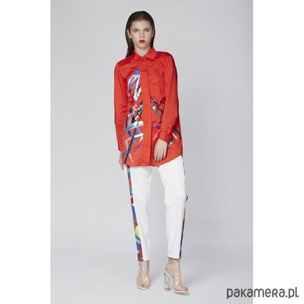 8304aebed7aa43 Czerwona koszula z grafiką - bluzki - koszule - Pakamera.pl