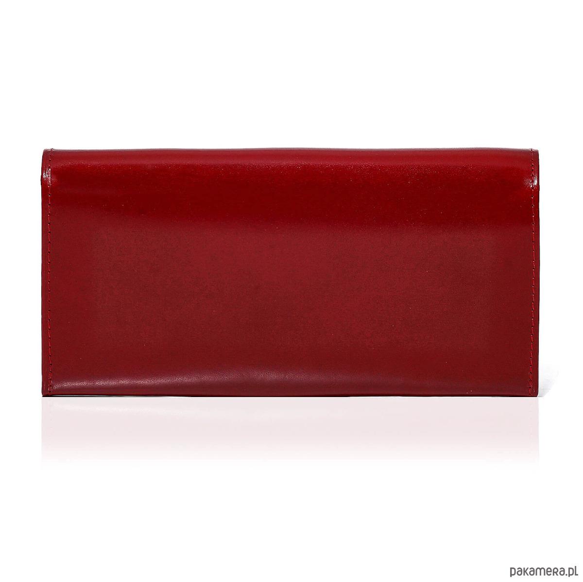 1a8b0d04f021a Czerwony portfel damski skórzany duży Belveder - portfele - damskie ...