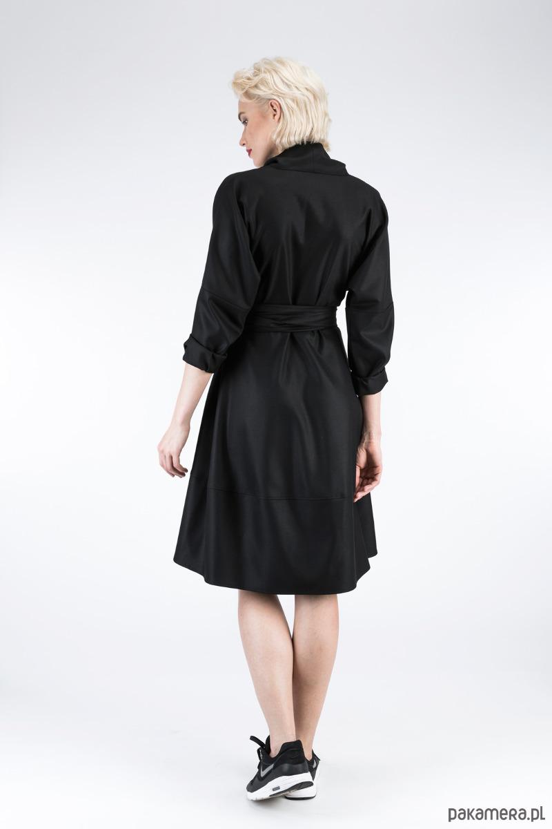 7f1a884e1100 Subienka-Płaszcz LAUREN Black - sukienki - midi - Pakamera.pl