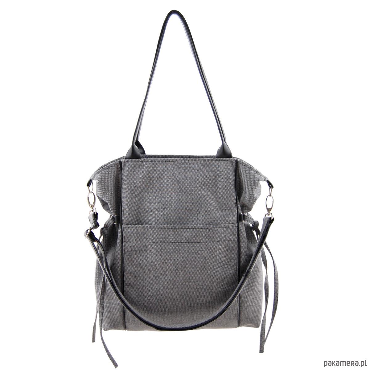 fbe510636a0cf AMBER - duża torba - shopper - szara plecionka - torby na ramię ...