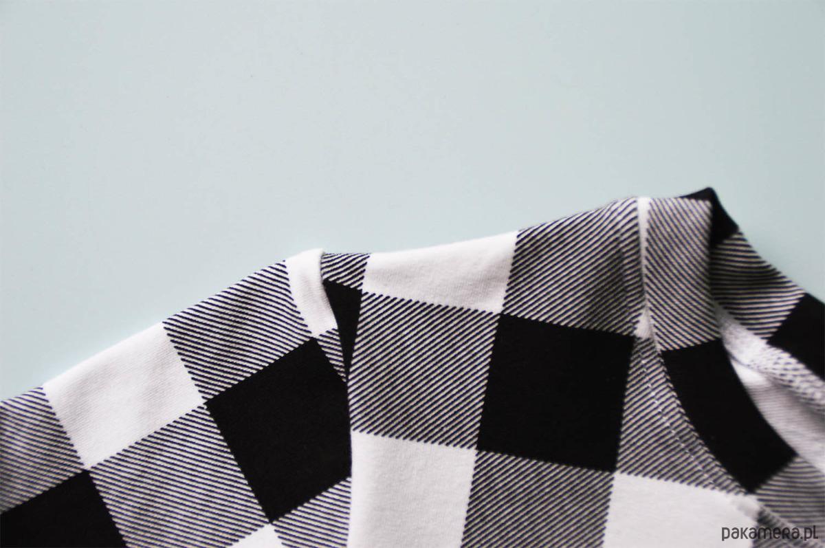 4d0cd647ed Sukienka w czarno-białą kratę 68-134   BUGZY - dziewczynka ...