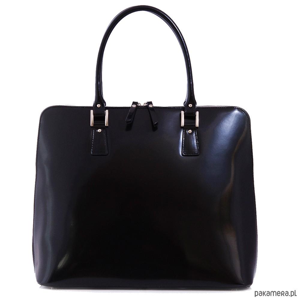 5c1b7e20ad75b Elegancka torebka damska, lakier Oliwia black - torby na ramię ...