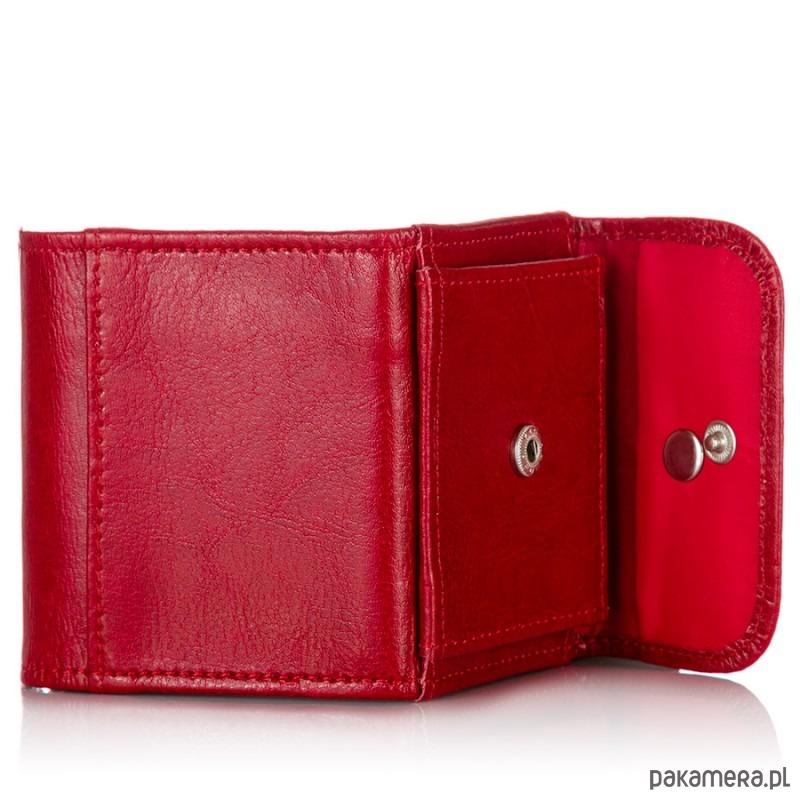 e94276a7d7633 Prezent: Skórzany portfel damski+etui na karty - portfele - damskie ...