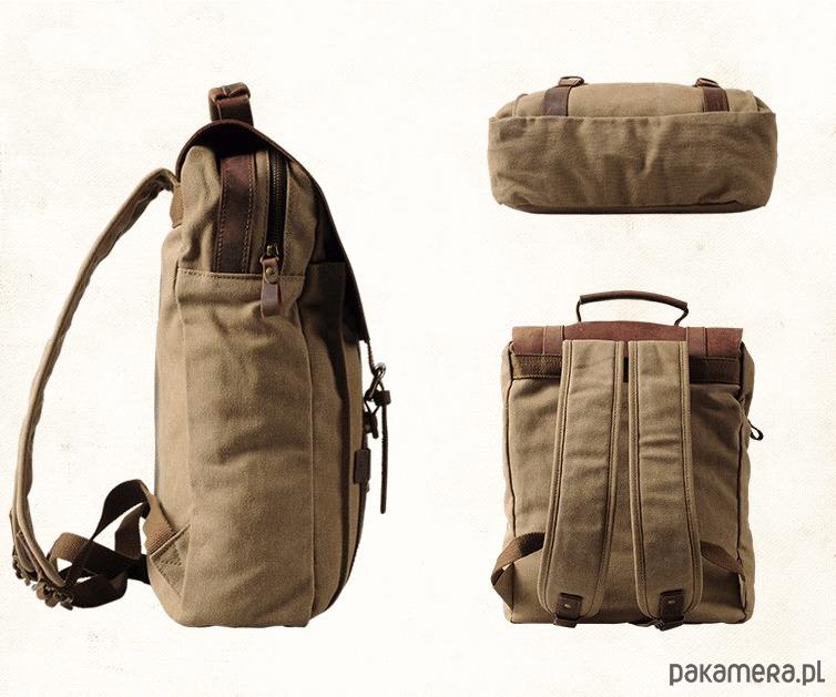 1b136aec09ea5 TD25 VINTAGE II™ Plecak unisex płótno skóra - plecaki - Pakamera.pl