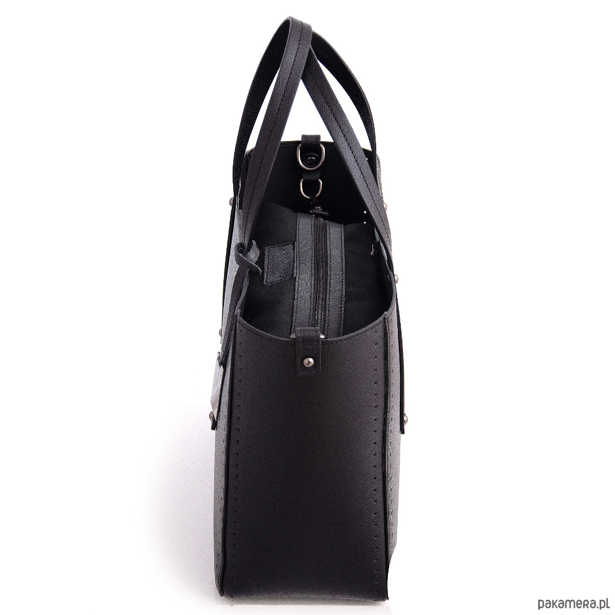 dcf09c7a5556b Torba skórzana SHOPPER z odpinanym paskiem - torebki do ręki ...