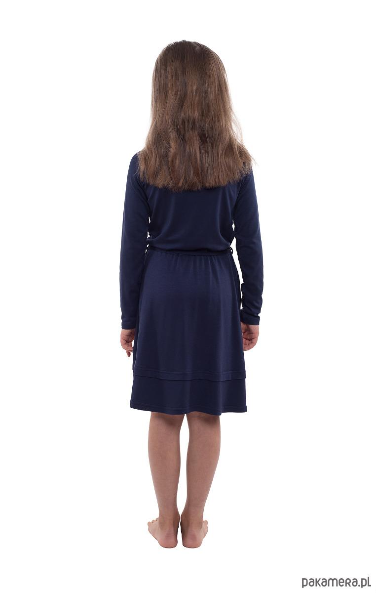 73adfd0a9a Granatowa sukienka z falbankami - dziewczynka - sukienki - Pakamera.pl