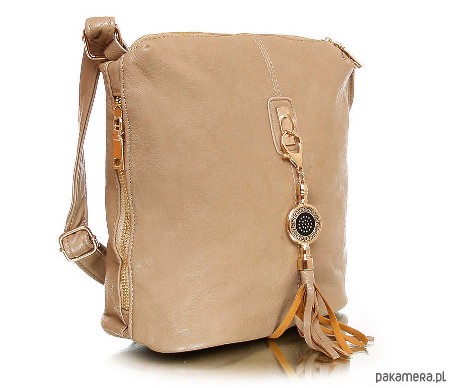 4485aa5836357 Torebka CASSIA frędzel eko skóra brązowy - torby na ramię - damskie ...