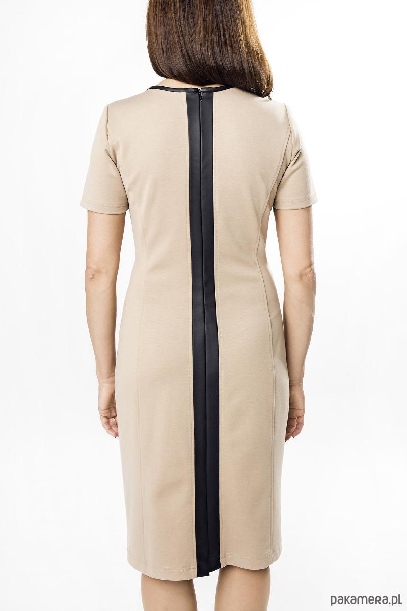 3c26c58b27 Sukienka czarna z pion.pasem - Darksus Business - sukienki - midi ...