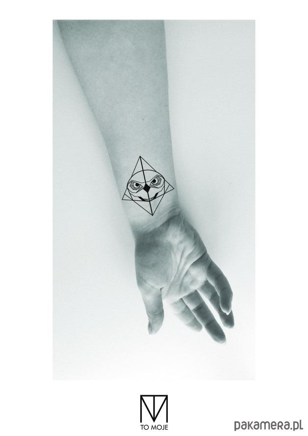 Tatuaż Zmywalny Sowa2 Tatuaże Pakamerapl