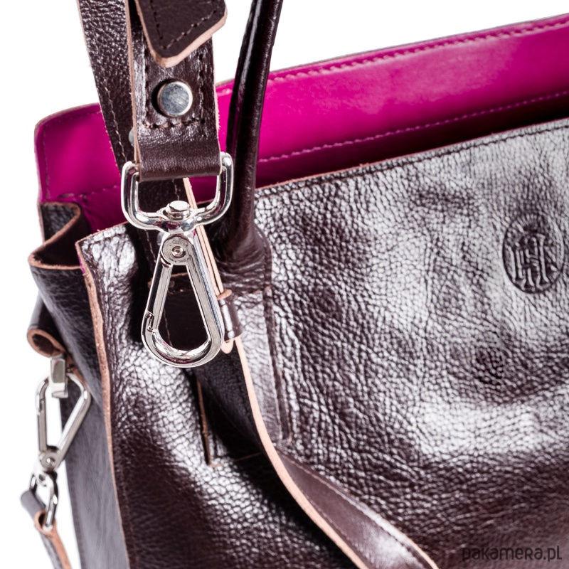 bddb567457bc7 Duża, brązowa skórzana torba damska na ramię - torby na ramię ...