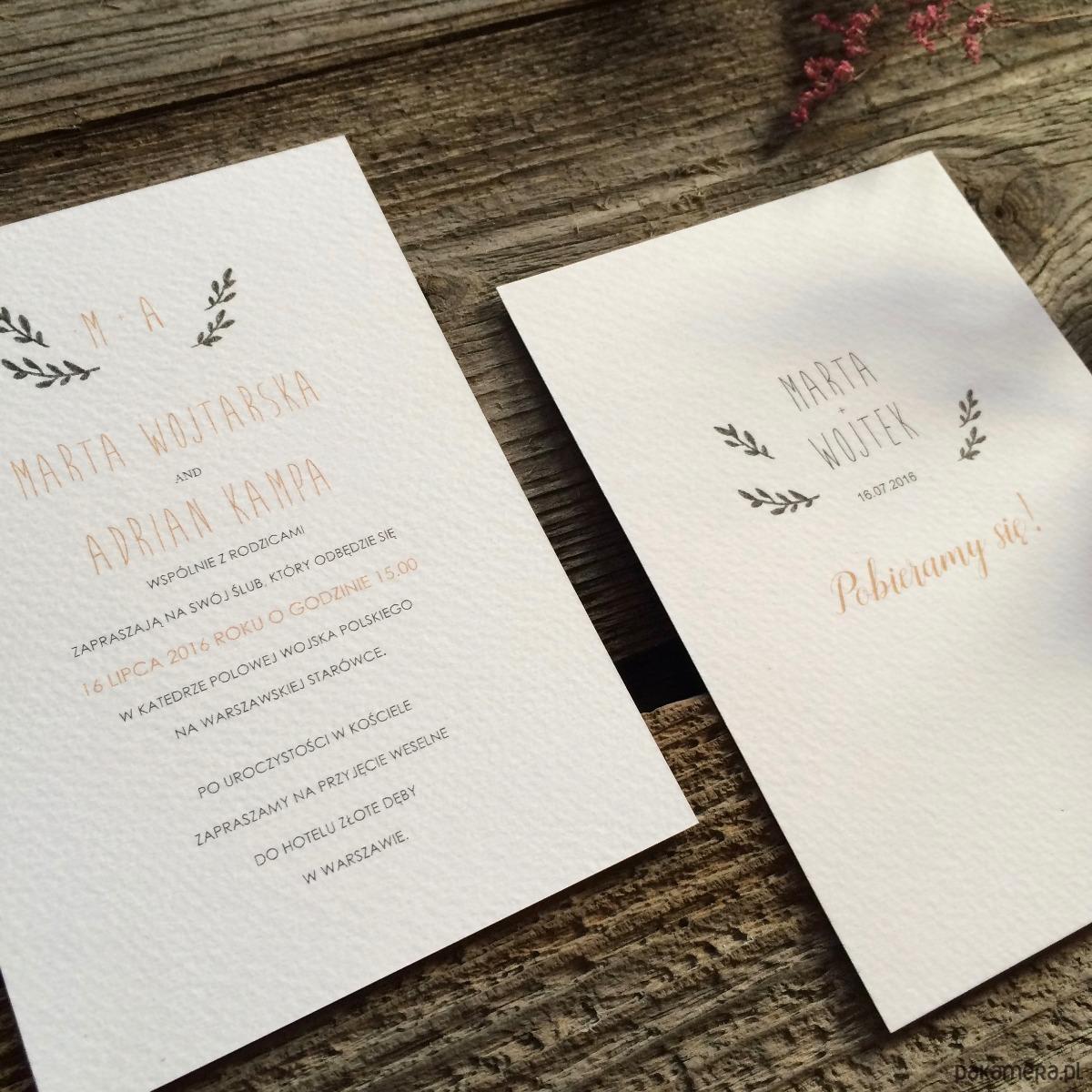 Zaproszenie Boho ślub Zaproszenia Kartki Pakamerapl