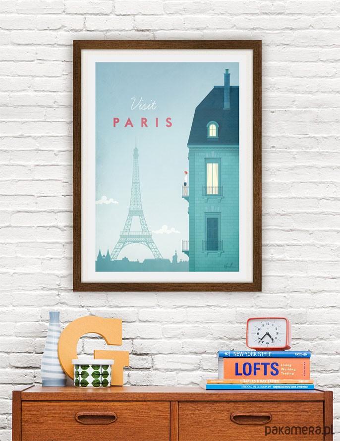 Paryż Vintage Plakat A4 Pakamerapl