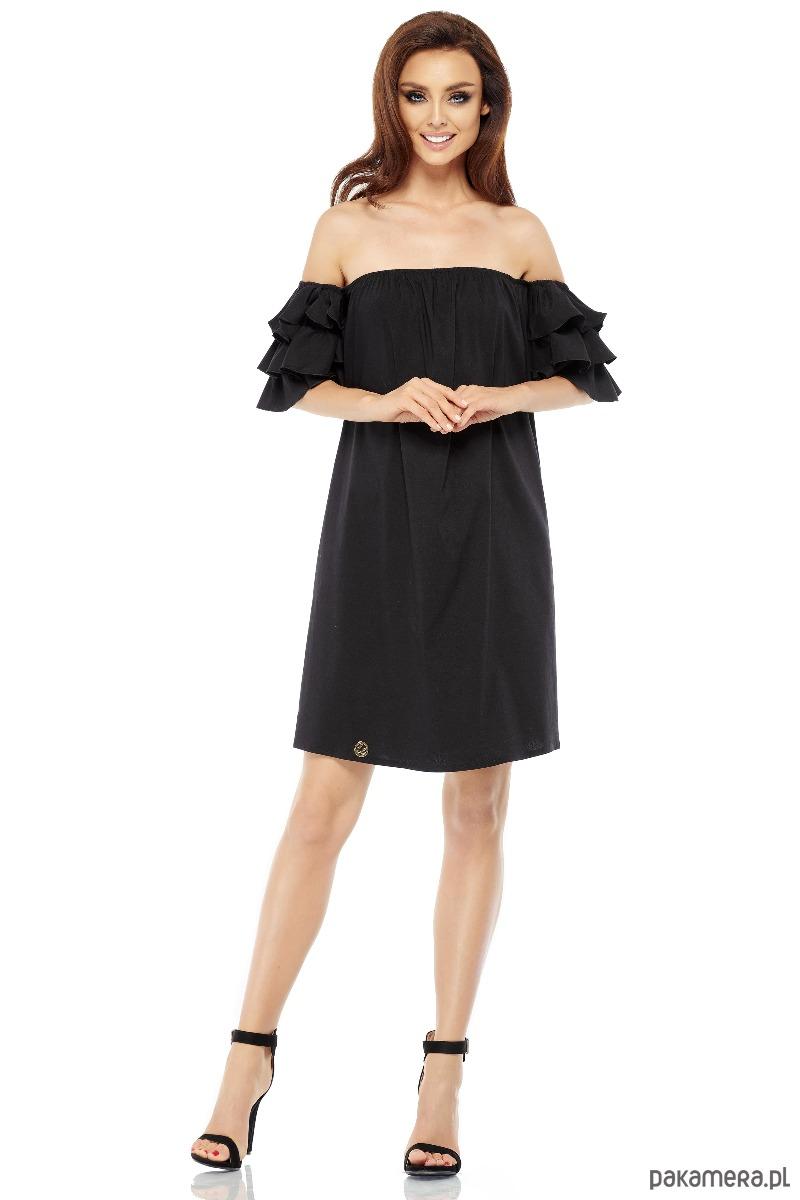 861b2f0a8c Idealna sukienka bez ramion L252 - czarny - sukienki - różne ...