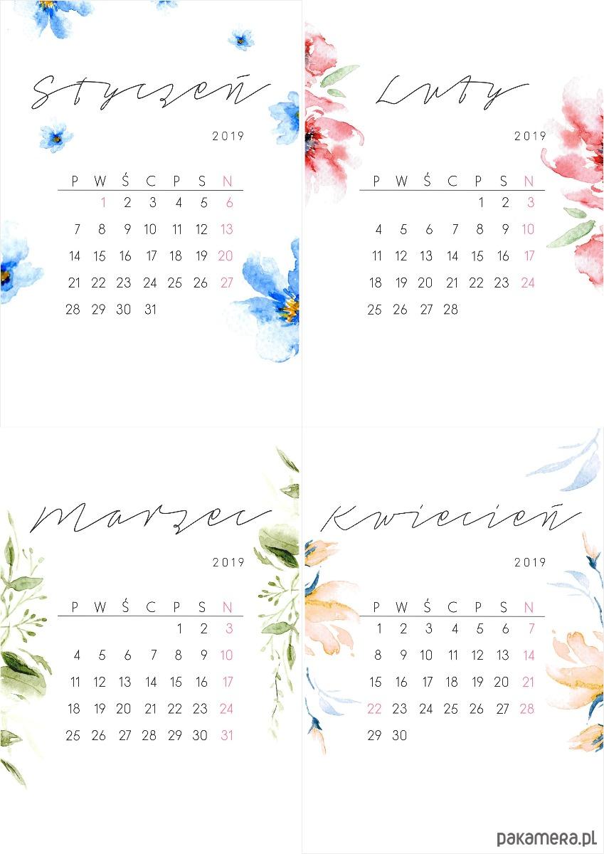Kalendarz 2019 Na Biurko Kalendarze I Plannery Pakamerapl