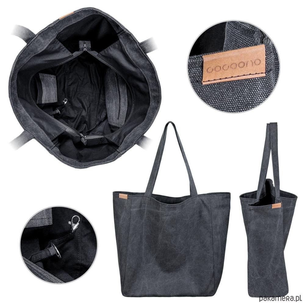 c21cf8ebc12dd Lazy bag torba czarna na zamek / vegan / eco - torby na ramię ...