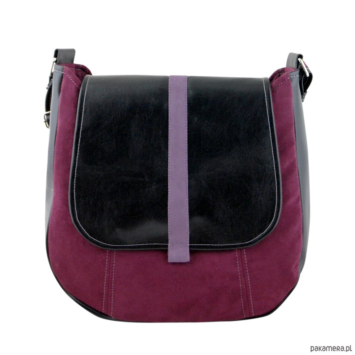 adacc5b284247 SASHKA - torebka na ramię - czerń i bordo - torby na ramię - damskie ...