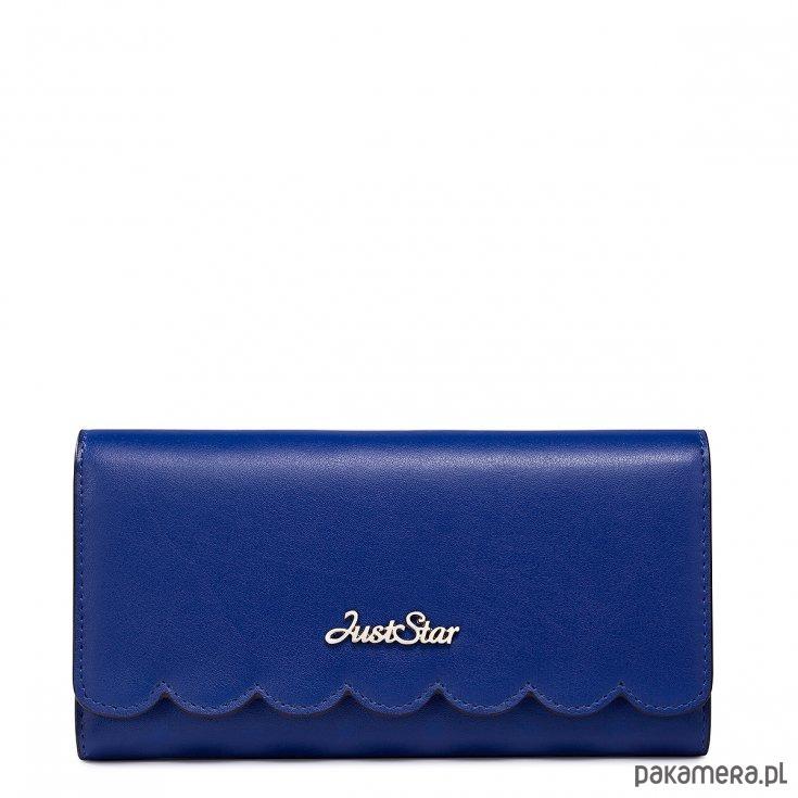 2d520c10ff16d JUST STAR szykowny portfel skórzany Niebieski - portfele - damskie ...