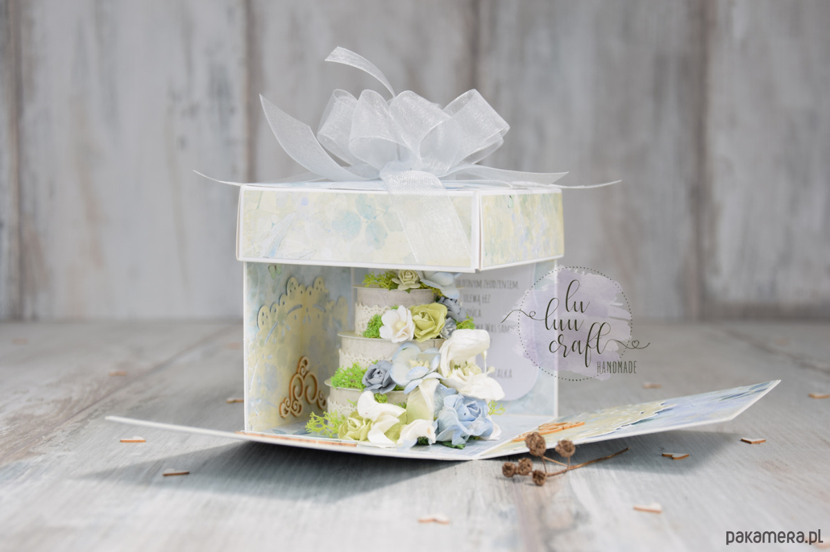 Wspaniały pudełko eksplodujące na ślub - Ślub - zaproszenia, kartki YH39