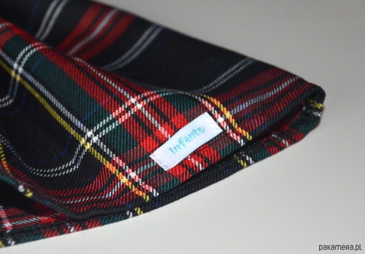 32356875f9cb3d Spódniczka w szkocką kratę czarno-czerwona - dziewczynka ...
