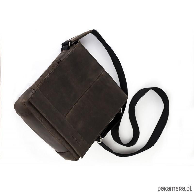 0003f19f9b62a Ciemno brązowa saszetka męska na ramię - akcesoria - torby i nerki ...
