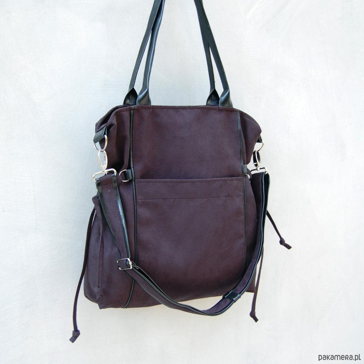 f591b673c3740 AMBER - duża torba - shopper - czarna - torby na ramię - damskie ...