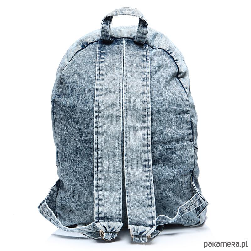 bdacd24d161ab Plecak worek vintage damski jeansowy marmurkowy - plecaki - Pakamera.pl