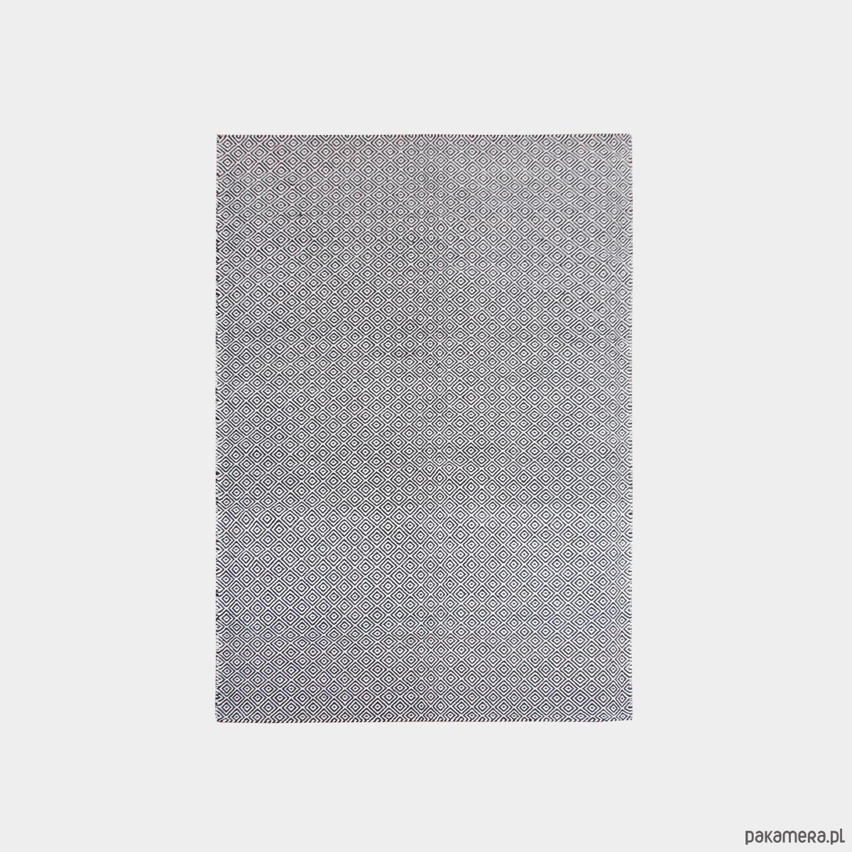 Dywan wełniany cateye blackwhite
