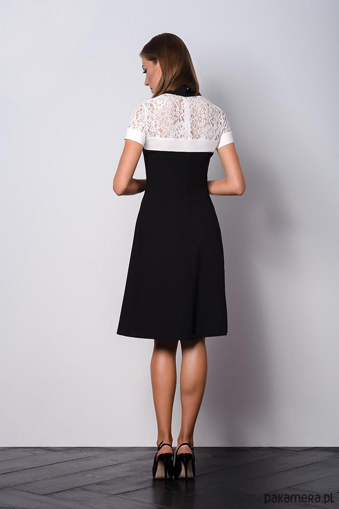 84ea3fd7e4 Elegancka czarna sukienka z kołnierzykiem Elegancka czarna sukienka z  kołnierzykiem ...