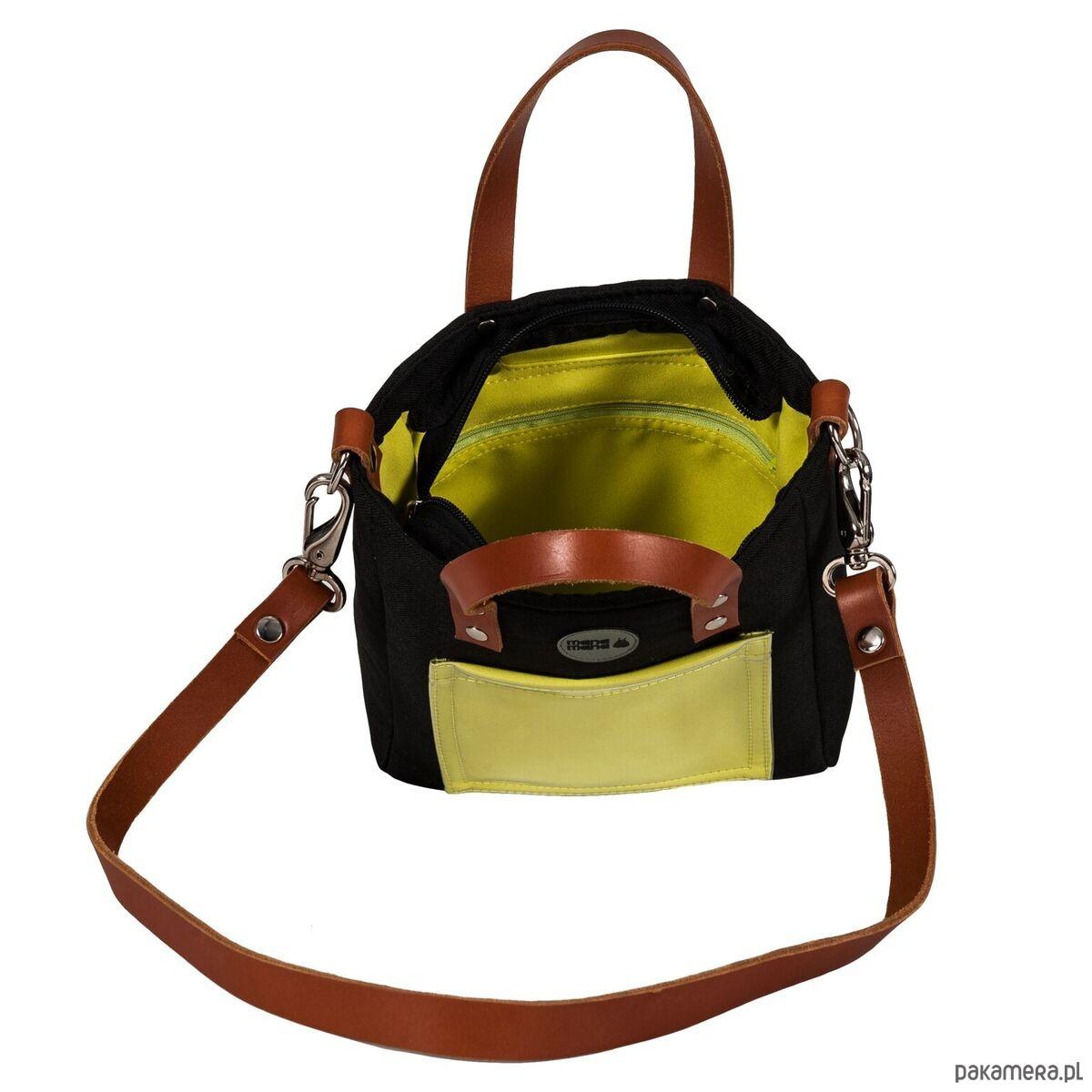 772e316bc44d7 Cuboid Mini w kolorze czarnym z nutką limonki - torby na ramię ...